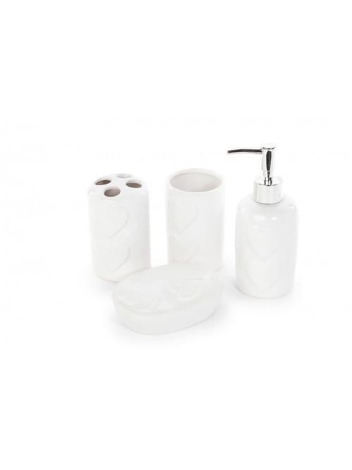Set di 4 accessori per il bagno disraeli olimpiahome - Accessori per il bagno ...