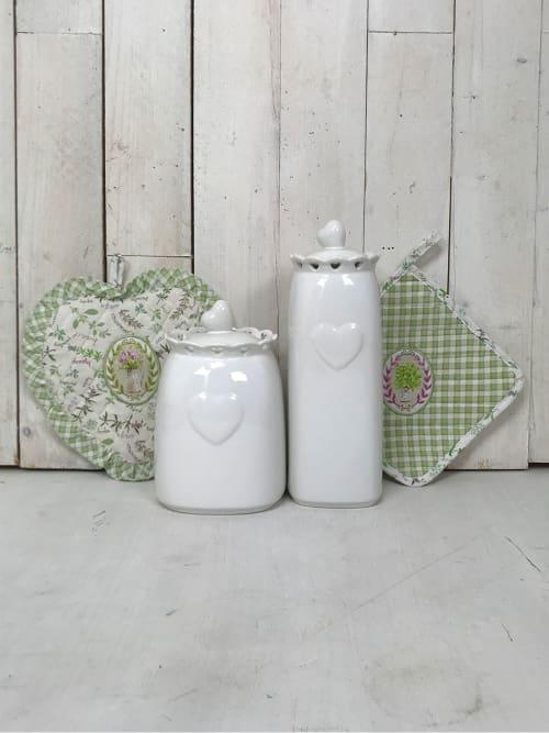 Set da Cucina Shabby Chic - Presine e Barattoli in ceramica ...