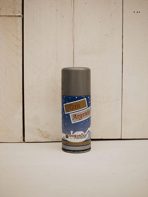 Spray argento per decorazioni natalizie