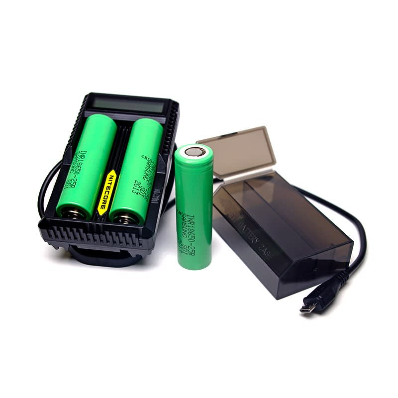 All Inclusive 18650 Batteries + Charger Bundle