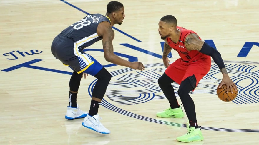 Damian Lillard Wears Bright Green Shoes In Game 2 Of Western Conference Finals Yardbarker