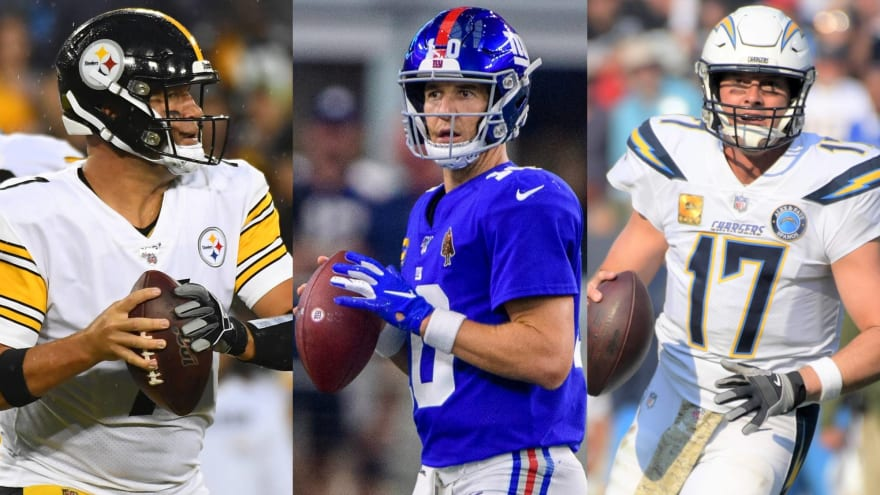 Hall of Fame-quality NFL QB Class of 2004 runs 'fade' route