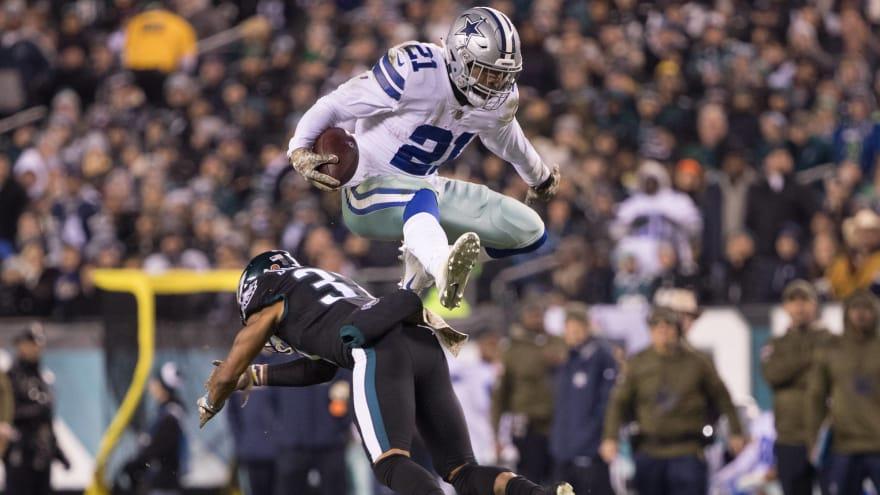 sports shoes 0d124 365a7 Watch: Ezekiel Elliott puts defender on poster with insane ...