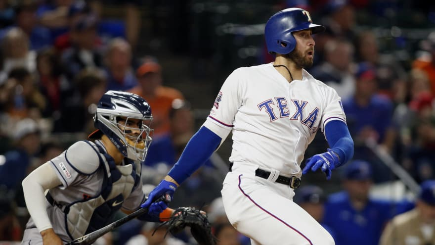A simple sacrifice fly etches Joey Gallo's name in MLB record books