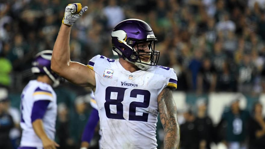 Kyle Rudolph working on new contract with Vikings