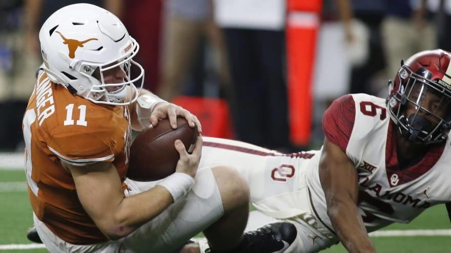Watch: Texas, Oklahoma get into huge pregame scuffle