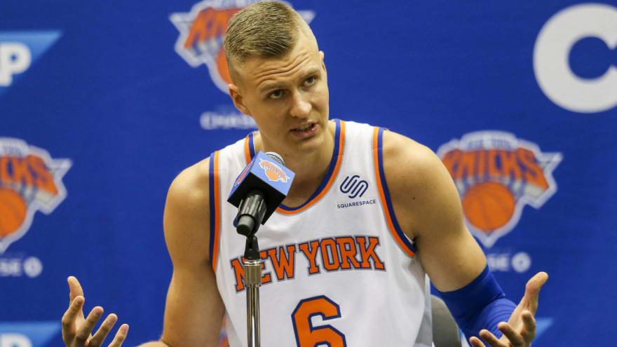 501edd469 NBA fans mercilessly rip Knicks for trading Kristaps Porzingis ...