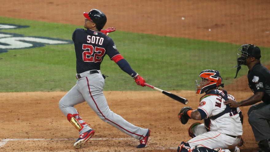Watch: Juan Soto hammers home run to tie Game 1 of World Series