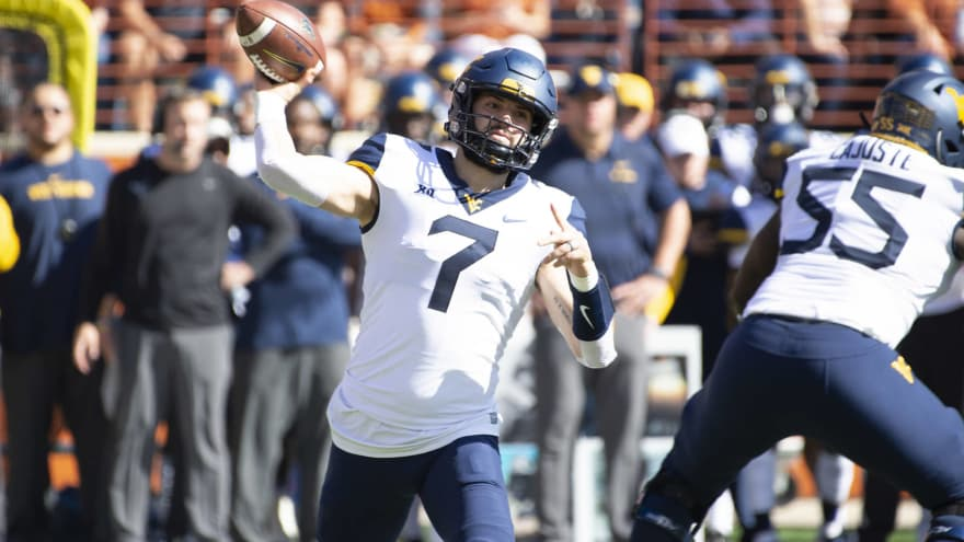 Watch Will Grier Briefly Leaves Game After Defender Rolls Over Leg
