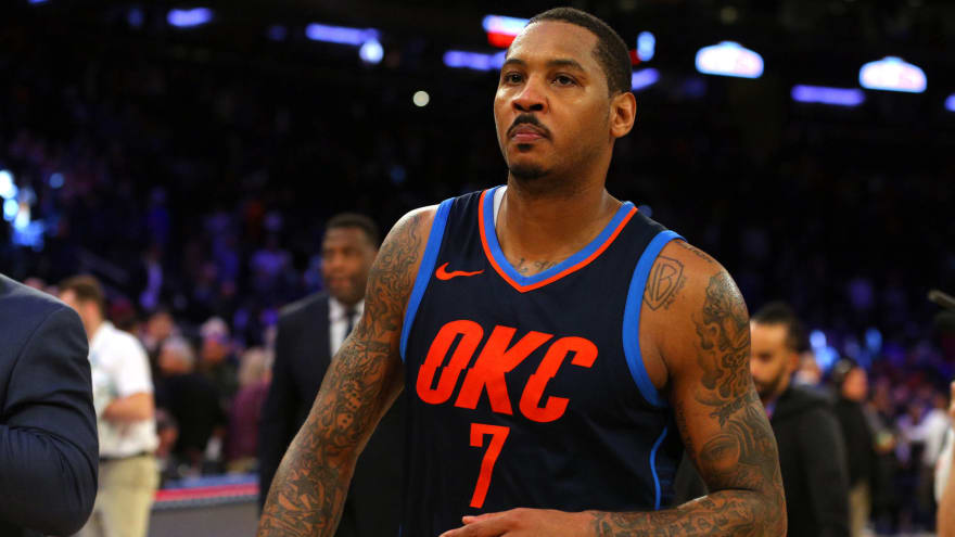 big sale f0104 e73aa Lakers reportedly show early interest in Carmelo Anthony ...