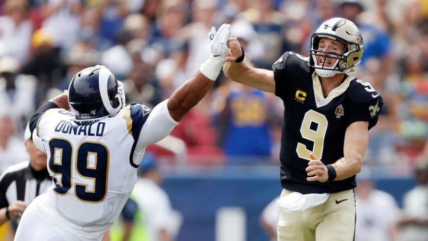 Aaron Donald exits Rams-Saints game with back injury