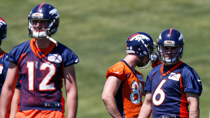 quality design ea4ca d1c7a Broncos QB competition brewing between backups Paxton Lynch ...