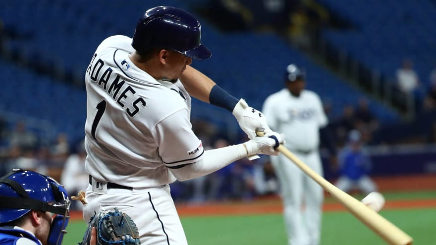 Willy Adames had the biggest bat flip after walk-off hit