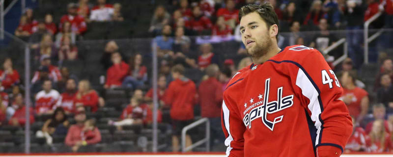 277114ee02d Capitals fans chant  Free Tom Wilson  during opener
