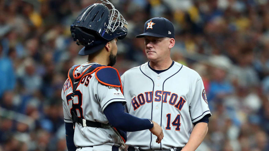 Astros manager AJ Hinch: Pitch-tipping talk 'kind of funny'