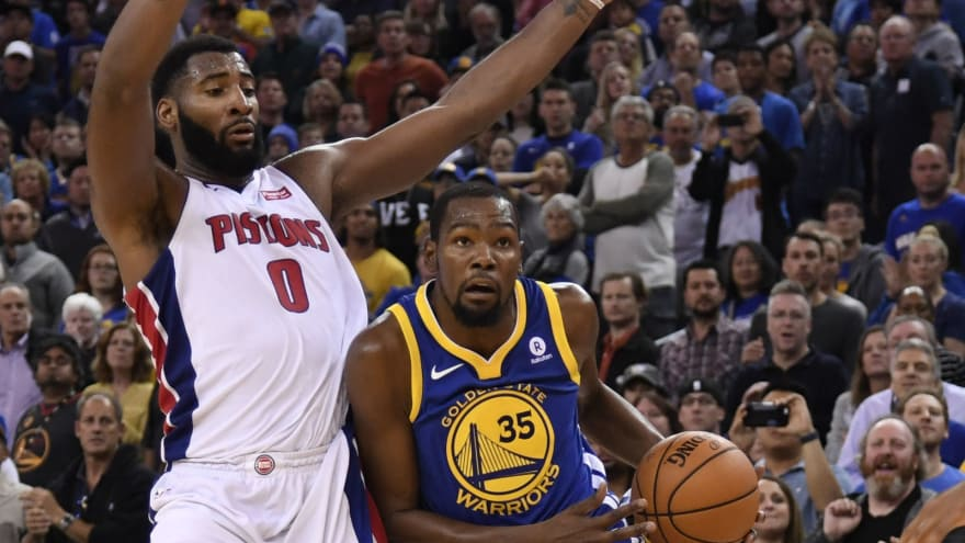 65518226225 WATCH  Kevin Durant puts Andre Drummond on skates with sick crossover