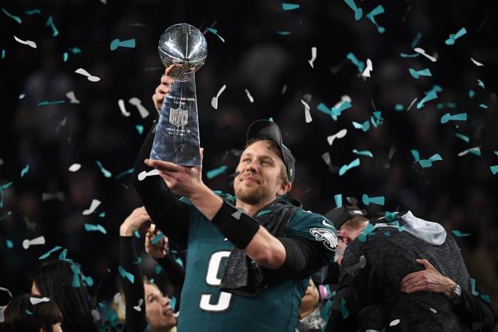 Super Bowl LII: Tom Brady, New England Patriots, and Nick Foles, Philadelphia Eagles