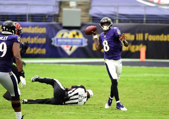 Ravens continue to coast despite uneven offense