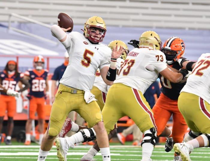 No. 2 Notre Dame (7-0) at Boston College (5-3), Saturday, 3:30 p.m., ABC