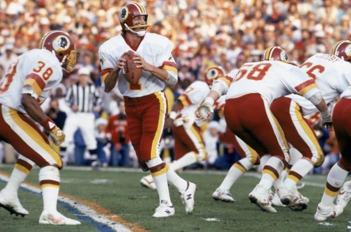 Super Bowl XVII: Joe Theismann, Washington Redskins, and David Woodley, Miami Dolphins