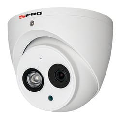 SPRO DHD20/28RW-4-T-M - 2MP TURRET DOME, 2.8MM, MICROPHONE BUILT IN, WDR, IP67, 50M IR, CVI,WHITE