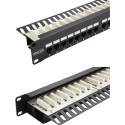 Excel Category 6 (UTP) Unscreened Right Angle Patch Panel 24 Port