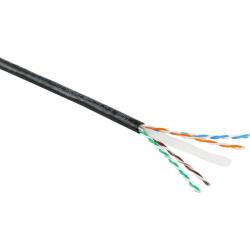Excel Category 6 Cable U/UTP External Grade Fca PE 305m Box - Bla