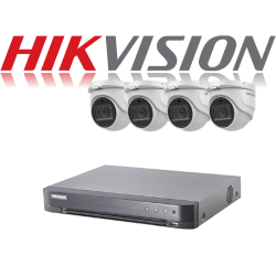 HikVision Turbo HD up to 5MP 4Ch Audio Kit with 4 x 5 MP 40m IR H