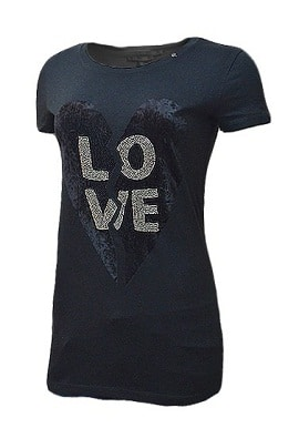 Gas Love Print Black Tee