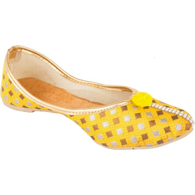 Branded  Checkered Jutis  (Yellow)
