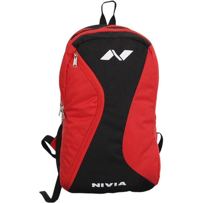 Nivia Cross Backpack  (Red, Black, Backpack)