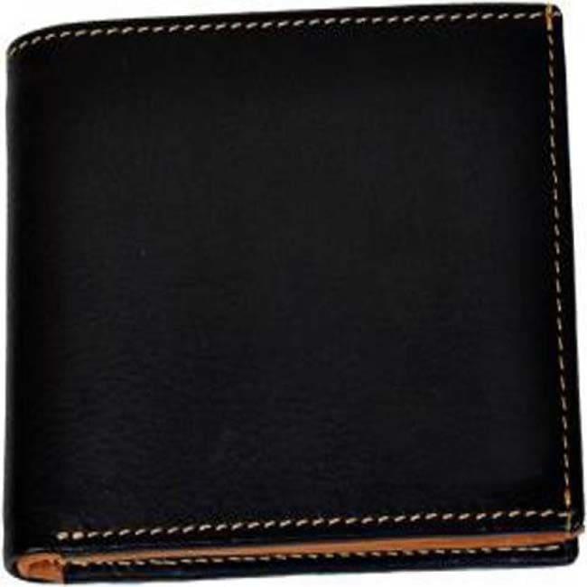 Bizarre Kraftz Men Black Genuine Leather Wallet Purse Mens (8 Card Slots)