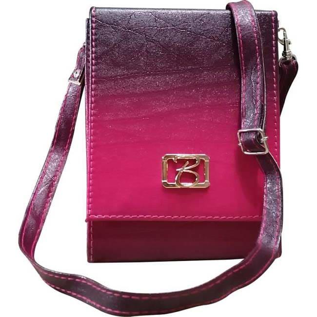 Branded Groset Sling Bag  (Purple, Pink)