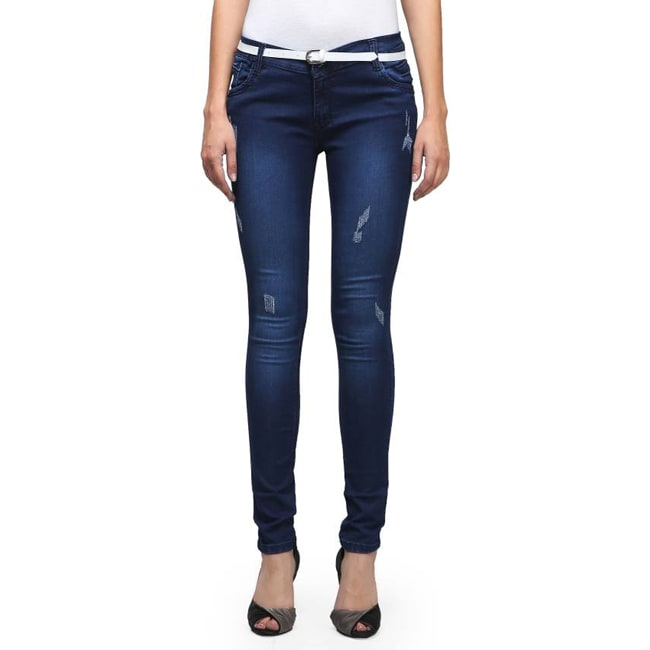 Smart Girl Slim Women's Blue Jeans